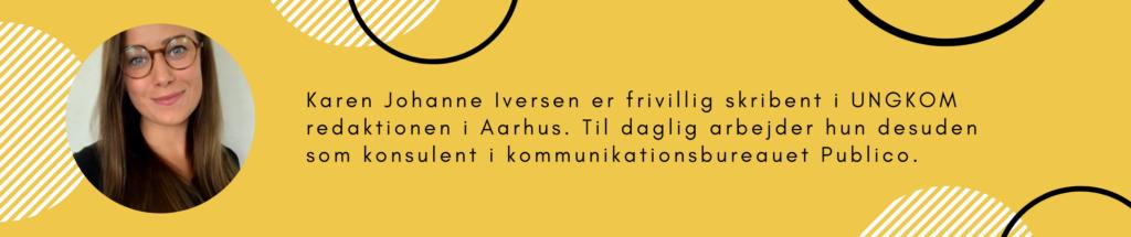 Boks der fortæller om skribenten, Karen Johanne Iversen