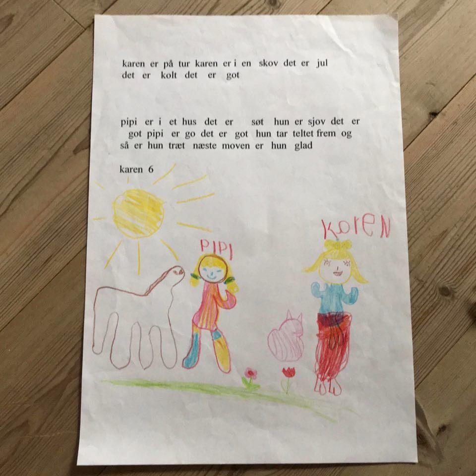 Billede af Karens første historie