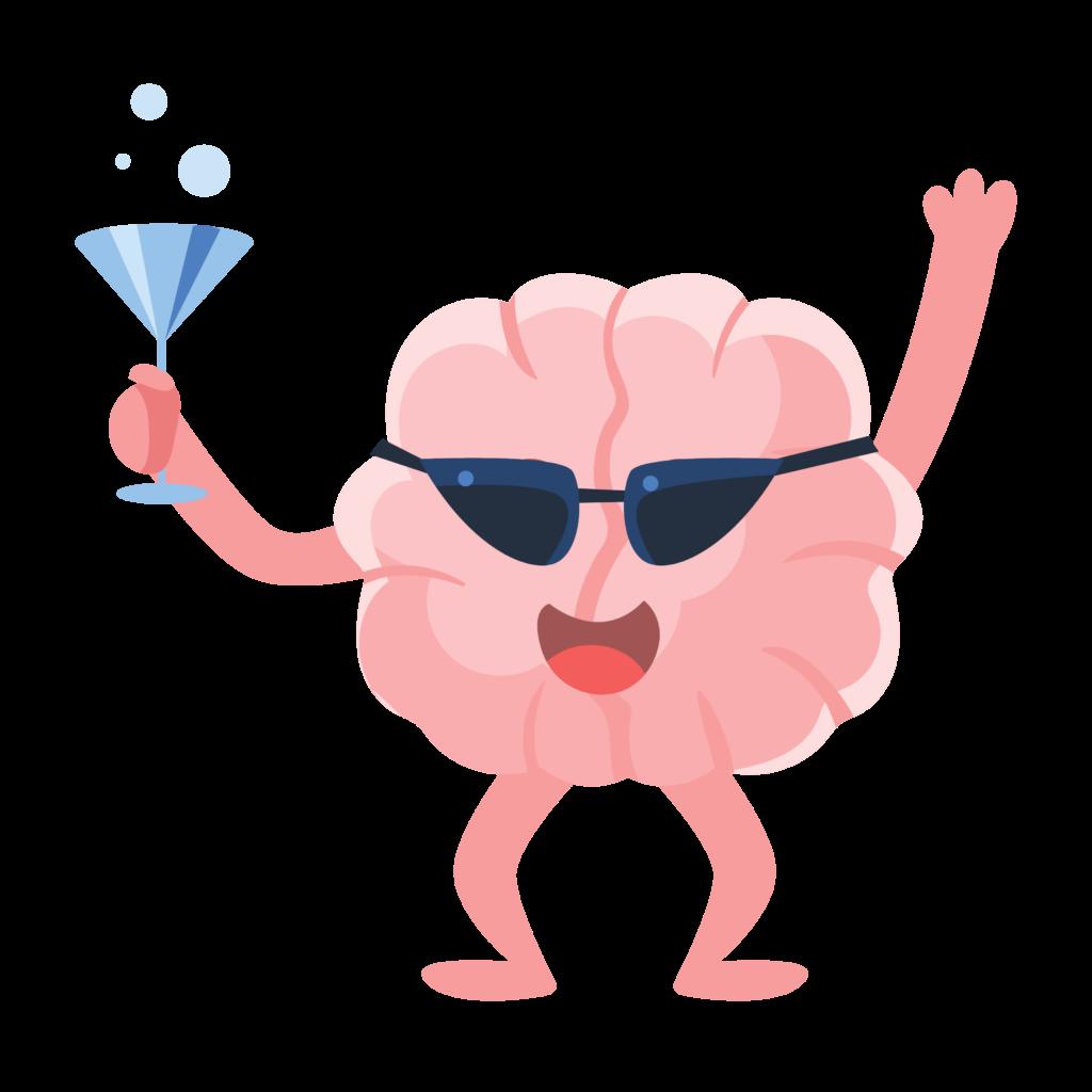 hjerne der fester